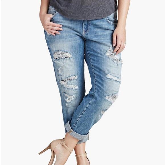 b7c740f5730 Lucky Brand Denim - Plus Size Lucky Brand Reese Boyfriend Jeans